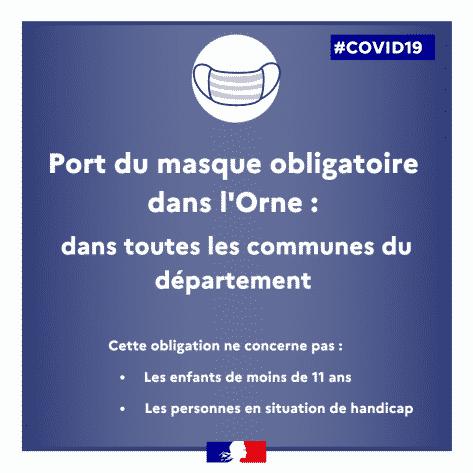 Le port du masque devient obligatoire dans toutes les communes de l'Orne