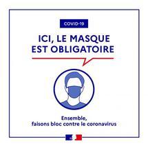 Port du masque obligatoire pour les personnes de onze ans et plus dans toutes les communes du département jusqu'au 18 février 2021